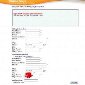 Step4 to Enter Inks Outlet Coupon