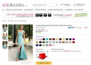 Step2 to Enter Izidress Coupon Code