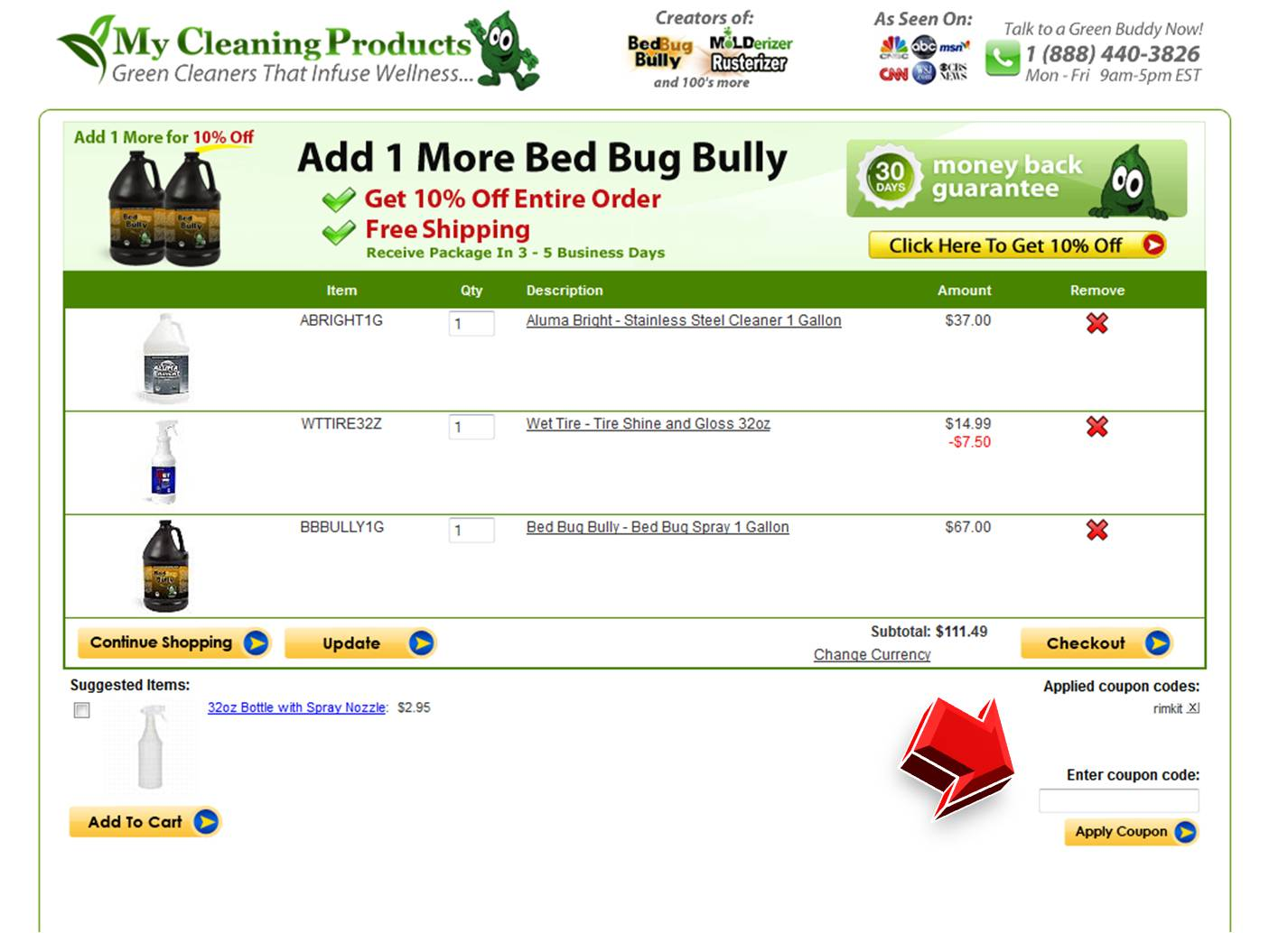 Mw cleaners comforter coupon