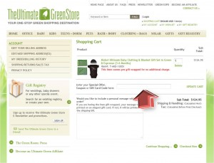 Step3 to Enter The Ultimate Green Store Coupon Code