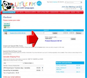 Step5 to Enter Little Pim Coupon Code
