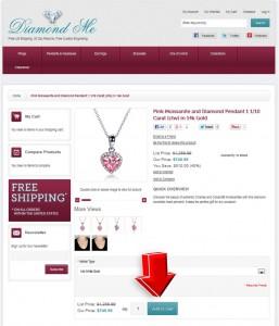 Step2 to Enter Diamond-Me Coupon Code