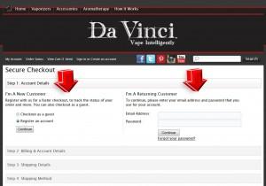 Step4 to Enter Davincivaporizer Coupon Code