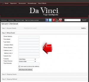 Step5 to Enter Davincivaporizer Coupon Code