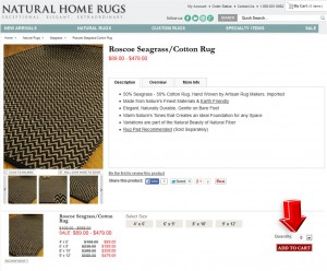 Step2 to Enter Natural Home Rugs Coupon Code
