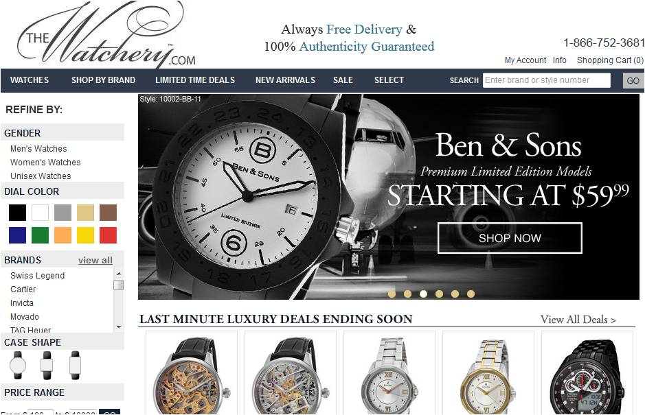 The Watchery Coupon & Promo Codes. 2 verified offers for December, Coupon Codes / Clothing, Shoes & Jewelry / Watches / The Watchery Coupon Code. Add to Your Favorites. There are 2 The Watchery promotional codes for you to consider including 2 free shipping coupons.