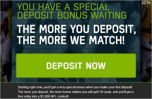 FanDuel Your 1st time deposit bonus + $1000