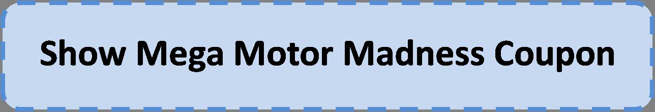 Mega motor madness coupon coupon code for Mega motor madness reviews