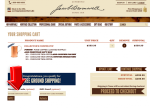 Step4 to Enter Jacob Bromwell Coupon Code