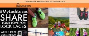 Step1 to enter Lock Laces Coupon Code