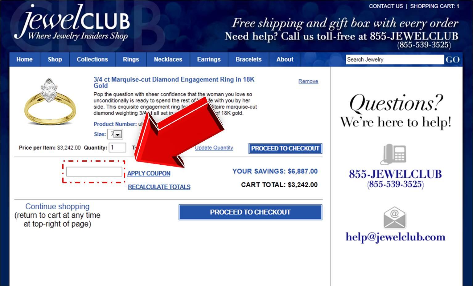 jewelclub promo code coupon code