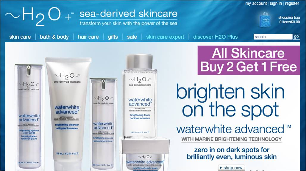Nov 23,  · Inside all of H2O Plus' skincare, hair, and bath products are mineral and antioxidant rich plants from the depths of the ocean, such as seaweed and algae. Use H2O Plus' moisturizers, cleansers, and other products to hydrate and repair your skin and hair to its original youth and beauty.