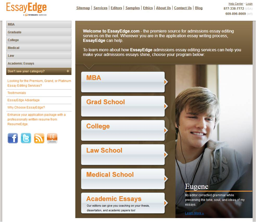 essayedge editor The latest tweets from essayedge (@essayedge) essayedge partners college and graduate school applicants with professional editors to help them craft powerful admissions essays we've detected that javascript is disabled in your browser.