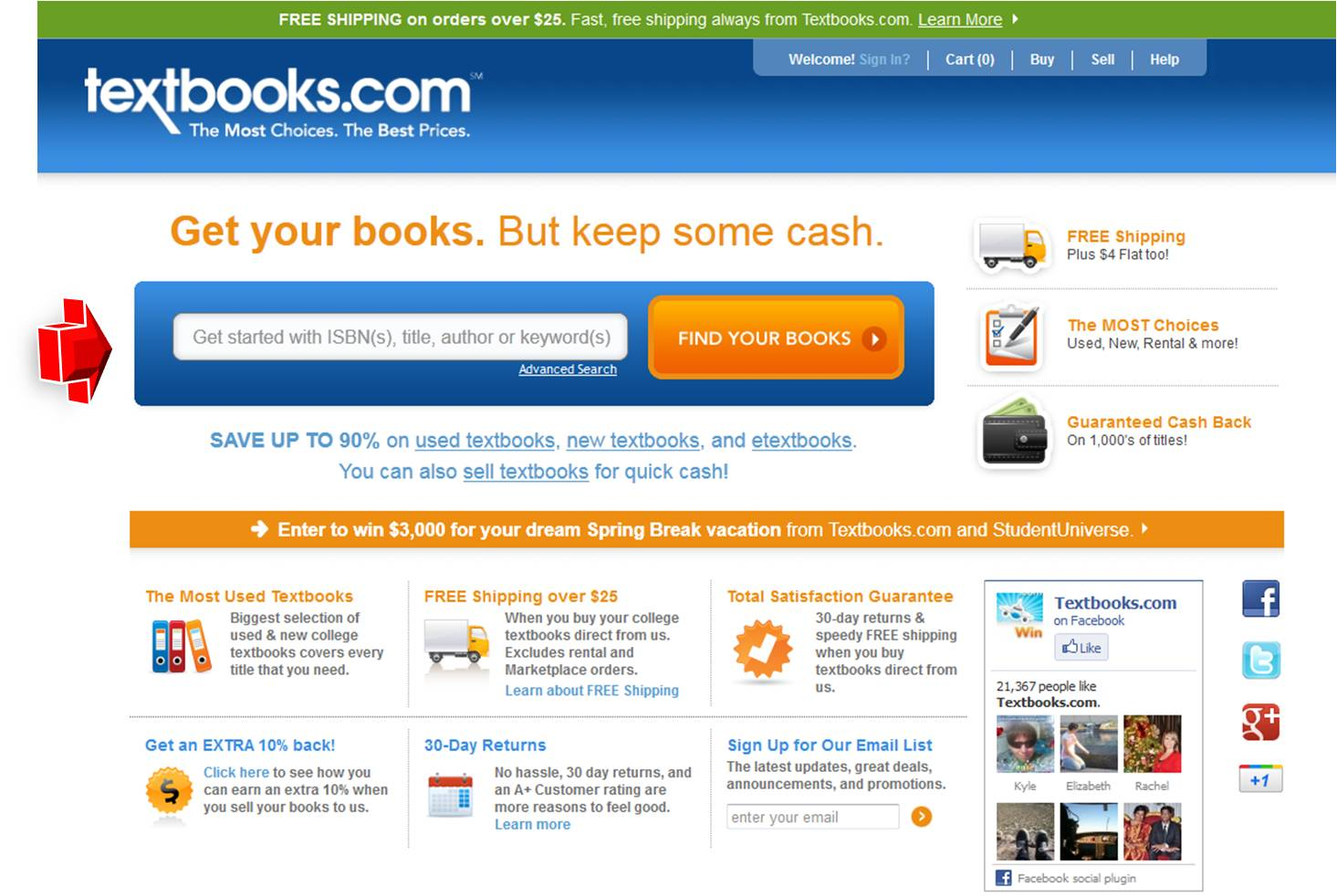 Pacific bookstore discount coupon