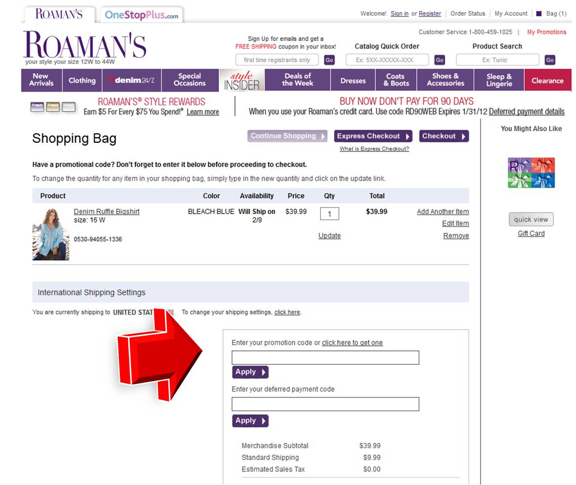 Roamans com coupon codes