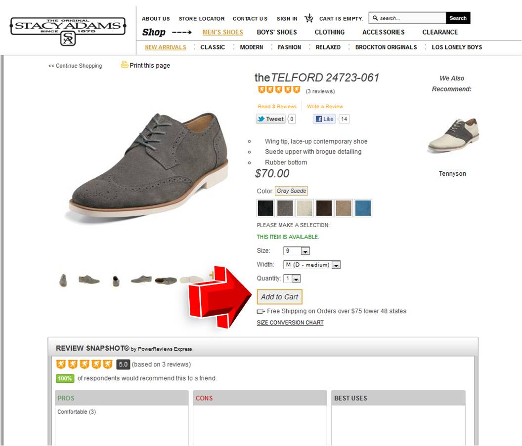 Choose from 6 Stacy Adams coupons that include promo codes and free shipping deals for December Our top coupon is a 20% Off coupon code. Guys, it's time you found the right pair of shoes to help you look like a true gentleman, and Stacy Adams is here to help.