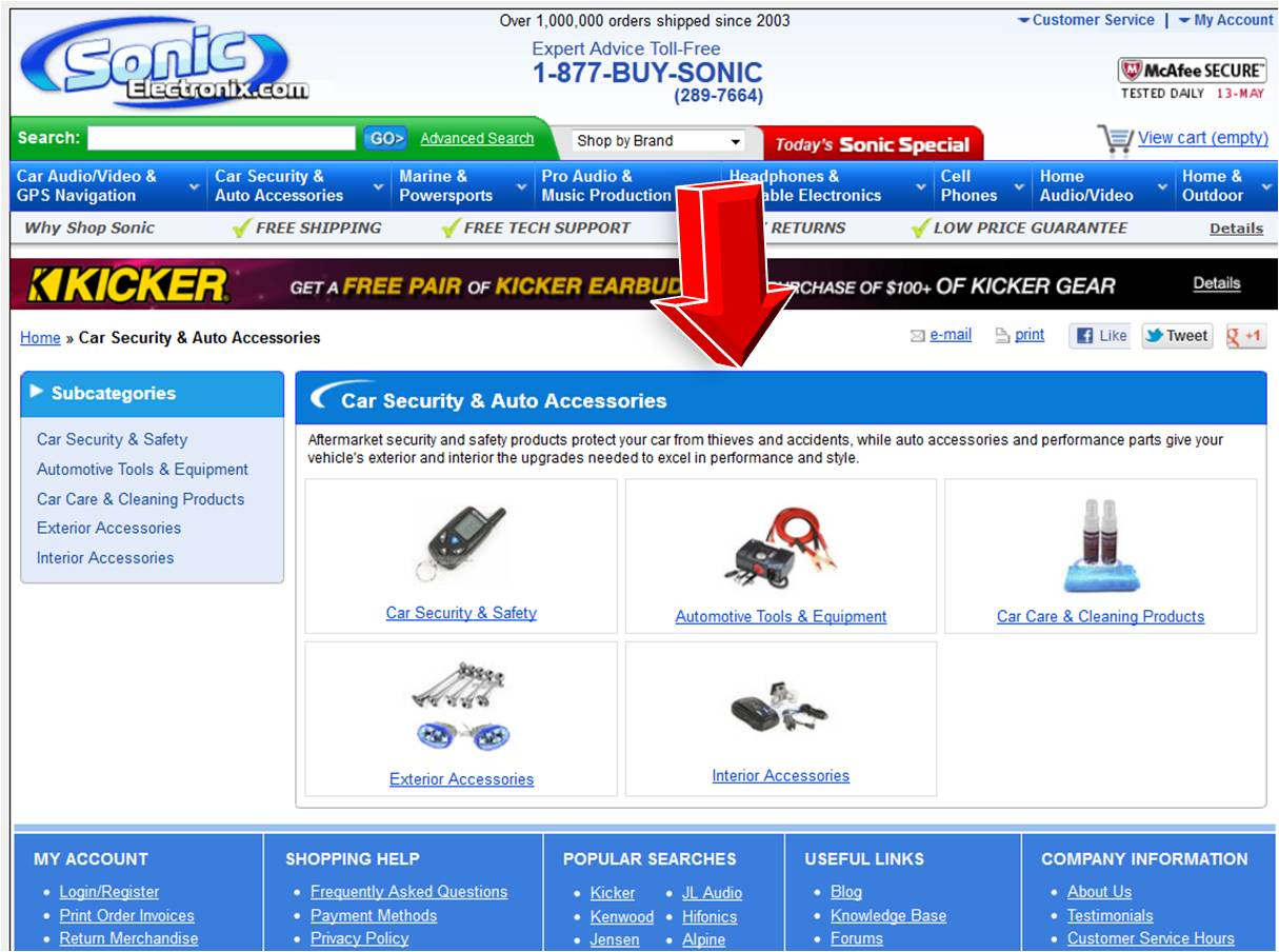 Sonic Electronix Auto Accessories Coupon Code Relate
