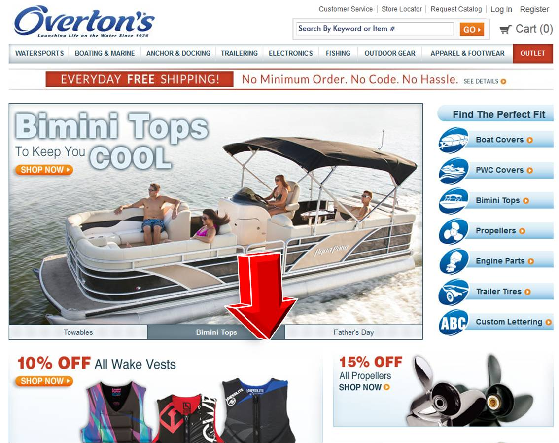 How to use an Overton's Coupon: On the