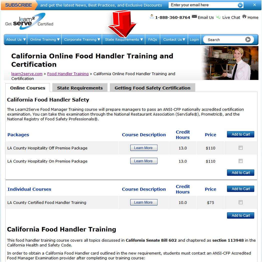 Learn2serve Food Handler Training Coupon Code