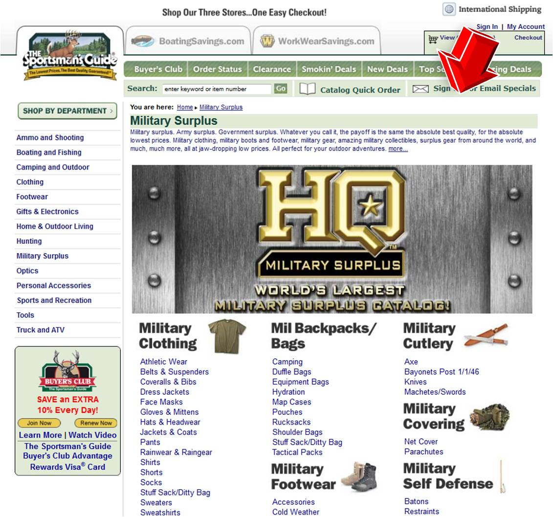 Shop Sportsman's Guide for huge selections of discount Hunting Gear, Supplies and Outdoor Hunting Equipment from Crossbows to Trail and Game Cameras as well as top of the line Tree Stands and Hunting Blinds at Sportsman's Guide, your best source for Hunting Supplies for almost 40 years.