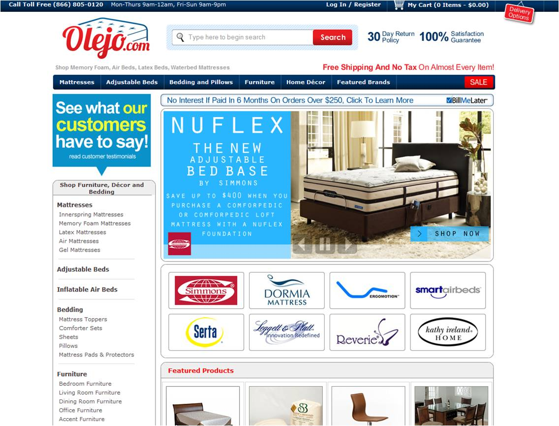 Furniture stores mailing lists inc List of online furniture stores
