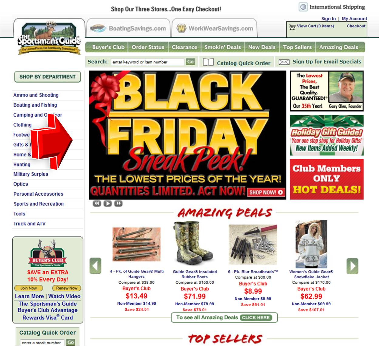 guide sportsmans friday promotion peek sneak sports coupon code