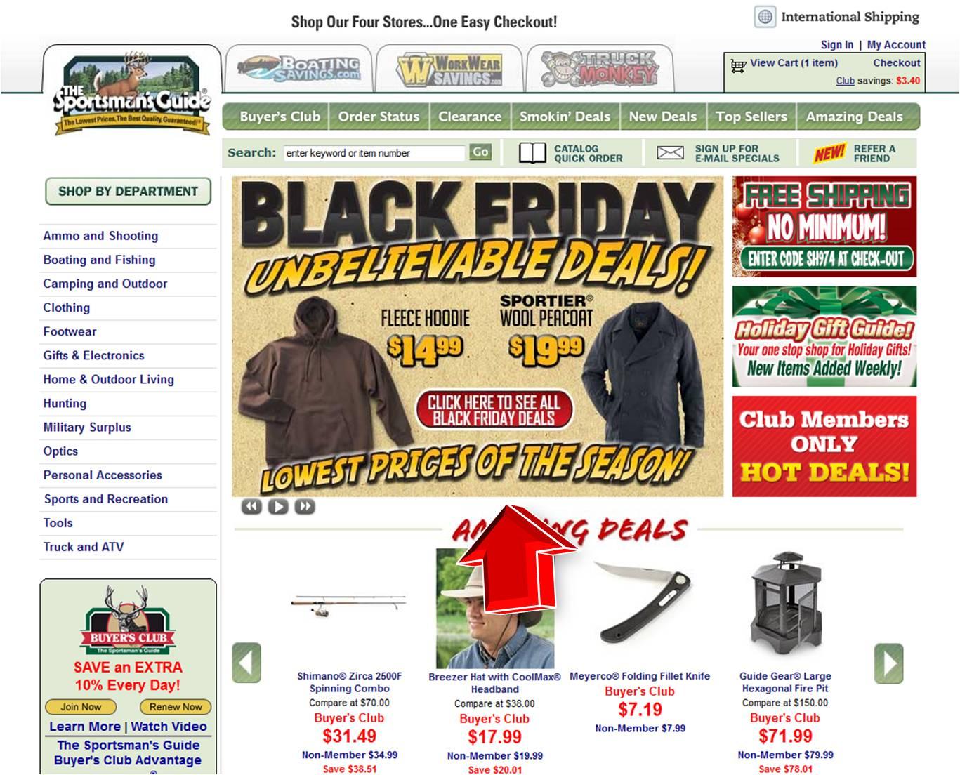 guide unbelievable deals friday sportsmans banner