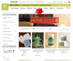 List of Home Goods from Gaiam