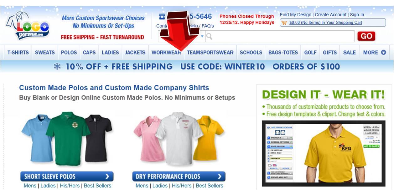 logo sportswear polos coupon code