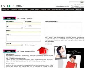 Evita Peroni Customer Support