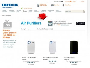 List of Air Purifiers from Oreck