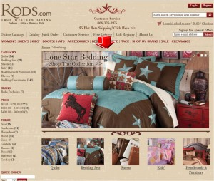 List of Bedding from Rod's Western Palace