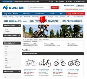 List of Cycling from Sun & Ski