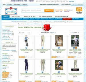 List of Equestrian Collections Shop for Plus Sizes