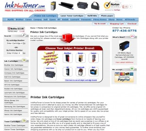List of InkPlusToner Printer Ink Cartridges