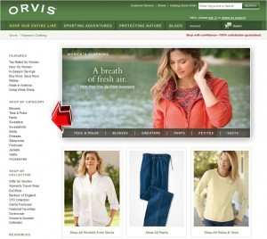 List of Orvis Women's Clothing