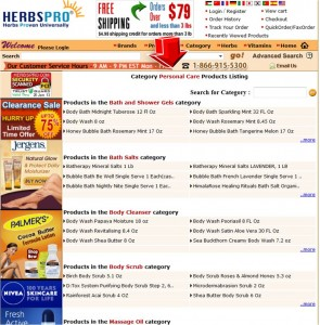 List of Personal Care from HerbsPro