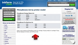 List of Pitney Bowes from Inkfarm