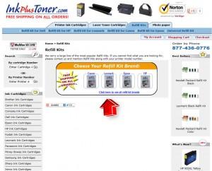 List of Refill Kits from InkPlusToner