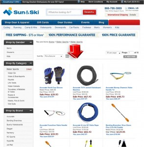 List of Watersports from Sun & Ski