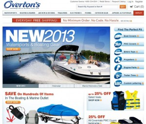 Overtons New Watersports & Boating Gear 2013
