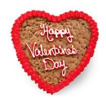 Valentine's Heart Cookie Cake