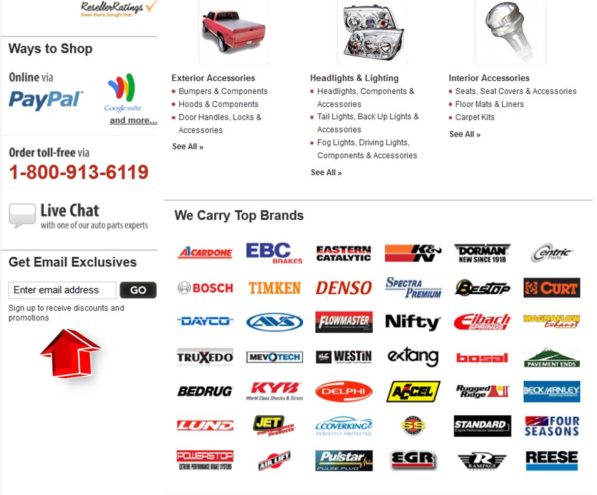 Discount auto parts coupon code