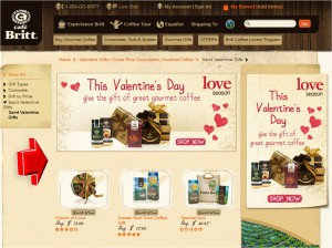 List of Cafe Britt Valentine's Day Promotion