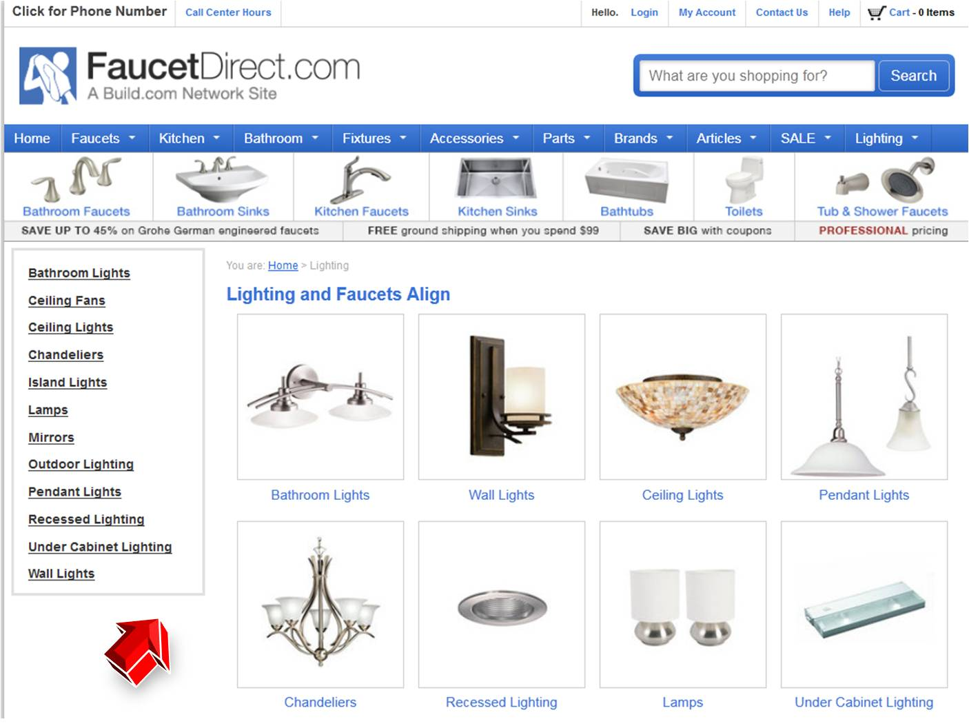 Lighting From Faucet Direct Coupon Code