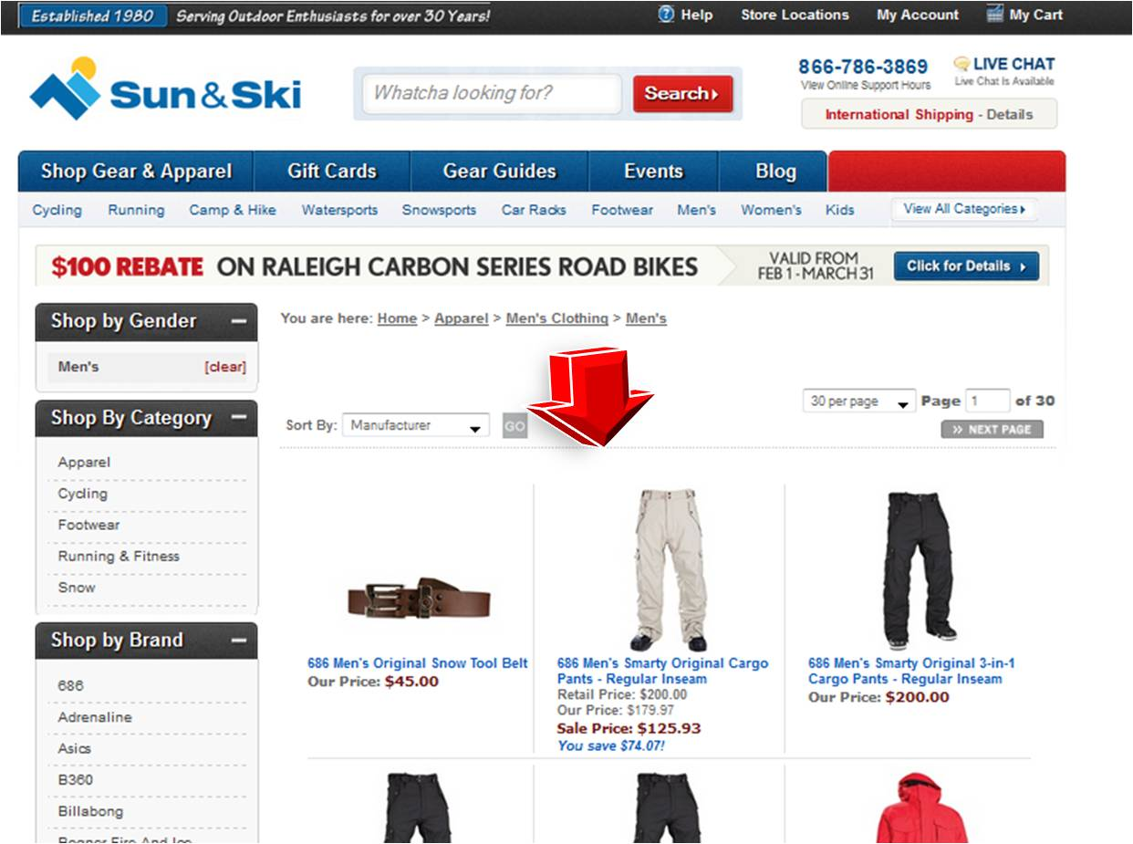 Men's Apparel from Sun and Ski | Coupon Code