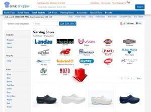 List of Nursing Shoes from Scrubshopper