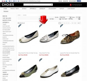 List of Shoes from Choies