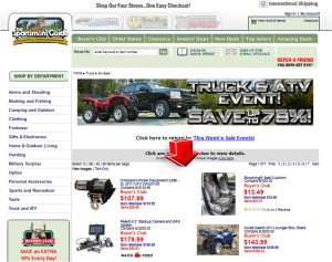 List of Truck & ATV Event from Sportsmans Guide