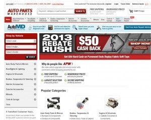 Step1 to Enter Auto Parts Warehouse Coupon Code
